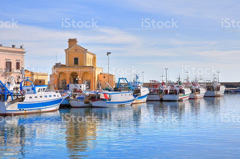 Panoramic view of Gallipoli. Puglia. Italy. stock photo