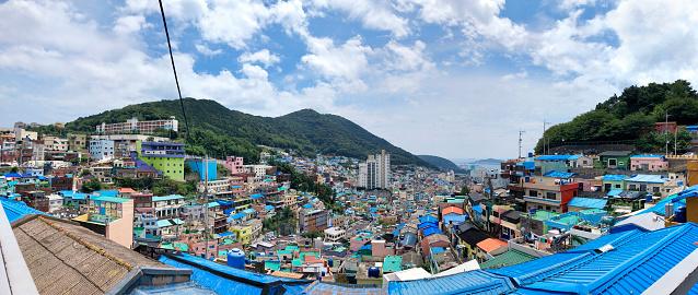 panoramic view of Gamcheon Culture Village,Busan(Pusan), South Korea