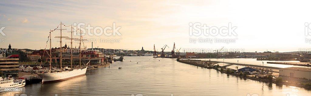 Panoramic view of Gothenburg city stock photo