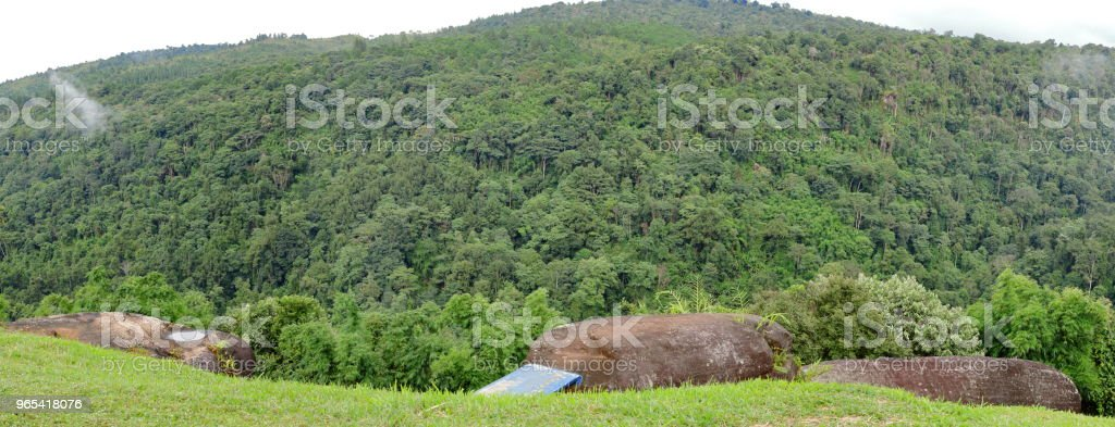 Panoramic view of green mountain landscape on summer. royalty-free stock photo