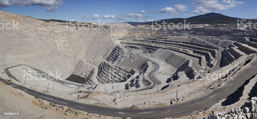 Panoramic view of Highland Valley copper mine stock photo
