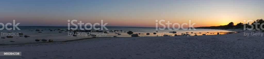 Panoramic view of idyllic sunset in Bornholm, Denmark on a day in summer zbiór zdjęć royalty-free