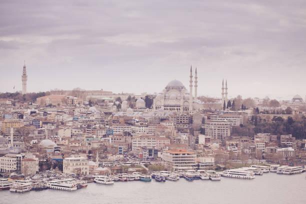Panoramablick auf Istanbul vom Galata-Turm, Türkei – Foto