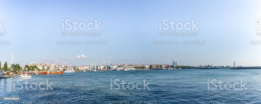 Panoramic view of Kadikoy district in Istanbul,Turkey zbiór zdjęć royalty-free