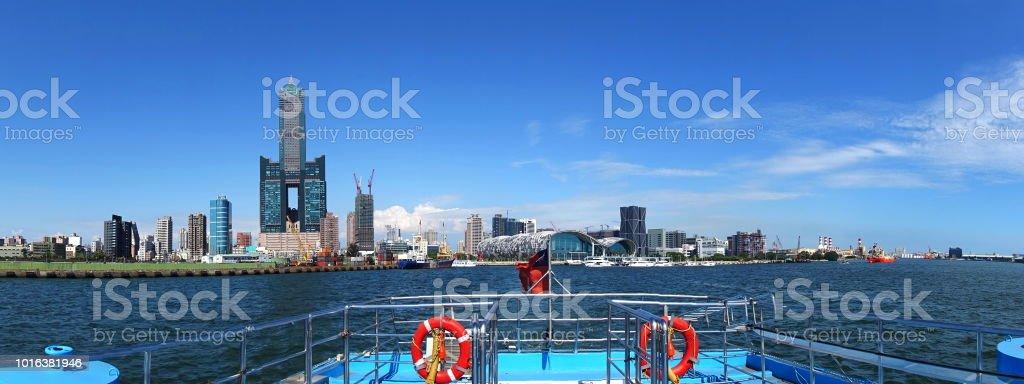 Panoramic View of Kaohsiung City stock photo