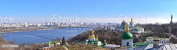 Panoramic View Of Kiev From Kiev Pechersk Lavra Stock Photo - Download Image Now