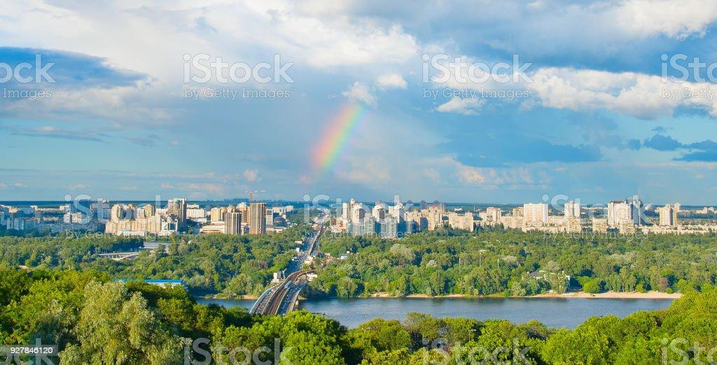 Panoramic view of Kiev, Ukraine stock photo