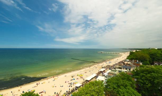 Panoramic view of Kolobrzeg beach, Poland – zdjęcie