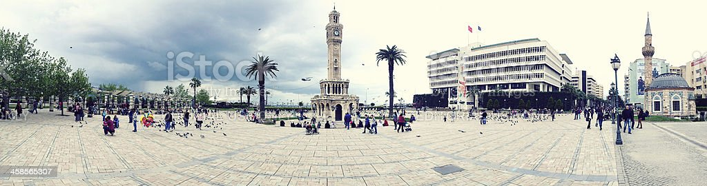 Panoramic view of Konak Square stock photo