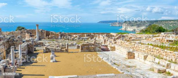 Panoramic View Of Kourion Archaeological Site Limassol District Cyprus Stock Photo - Download Image Now