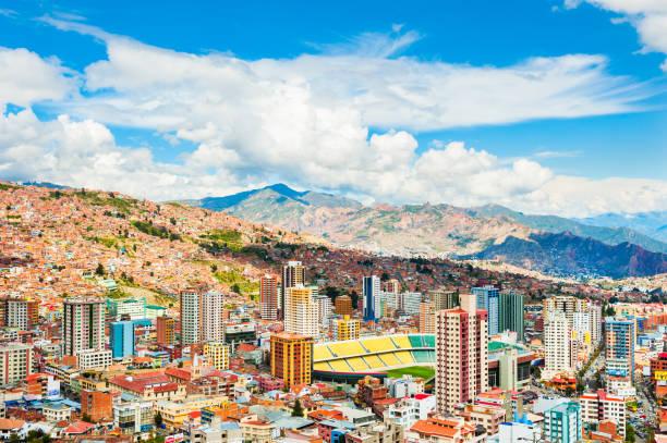 玻利維亞拉巴斯全景圖 - 玻利維亞 個照片及圖片檔