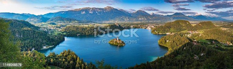 Panoramic view of Lake Bled