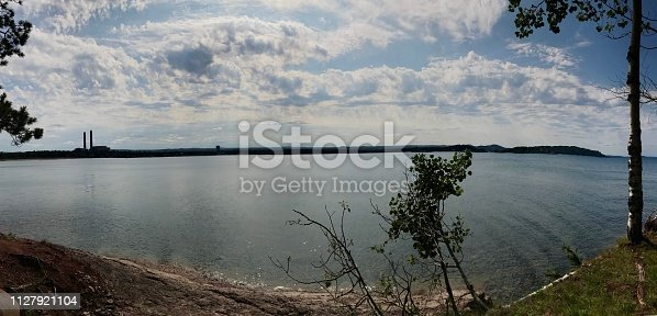 627263082istockphoto Panoramic view of Lake Superior in Marquette ,Michigan in The Upper Peninsula of Michigan . 1127921104