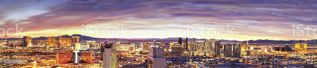 Panoramic View of Las Vegas, Nevada stock photo