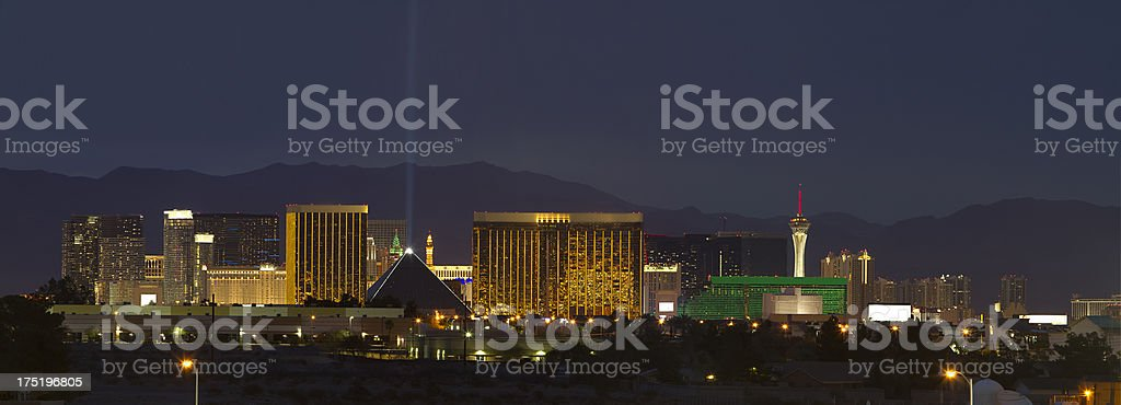 Panoramic View of Las Vegas, Nevada royalty-free stock photo