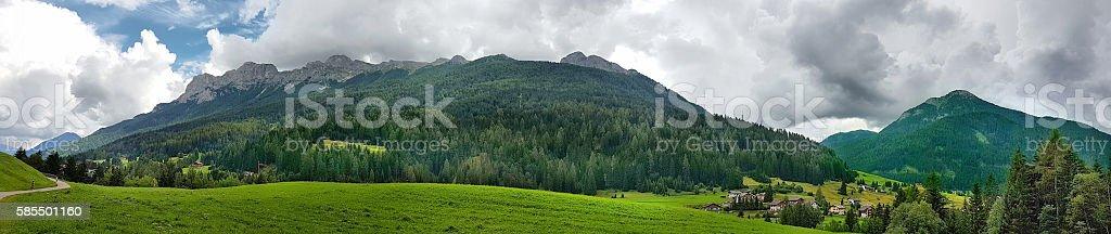 Panoramic view of Latemar - Trentino Alto Adige - Italy stock photo