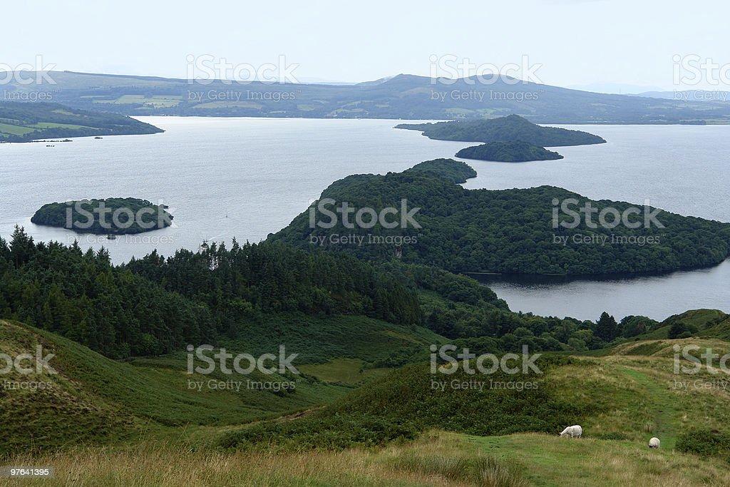 panoramic view of Loch Lomond royalty-free stock photo