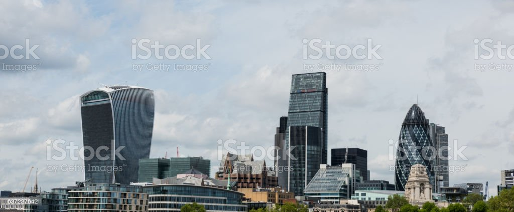 Panoramic view of London skyline stock photo