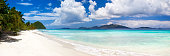 panoramic view of Long Bay, Tortola with Belmont Point in the backgraound