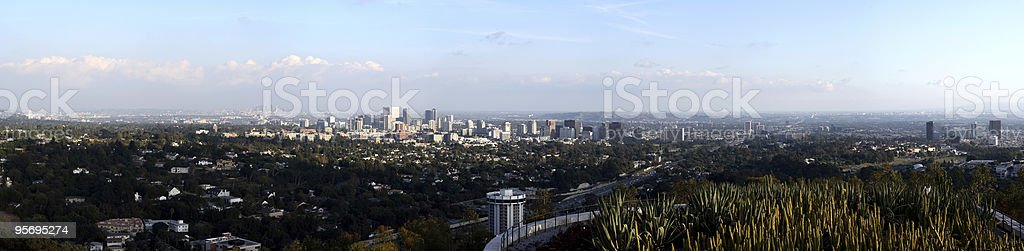 Panoramic view of Los Angeles stock photo