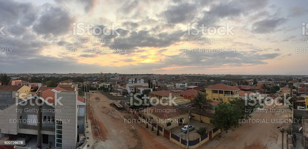 Panoramic view of Luanda in Angola stock photo