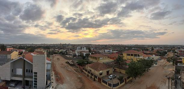 panoramic view of luanda in angola - angola stock photos and pictures