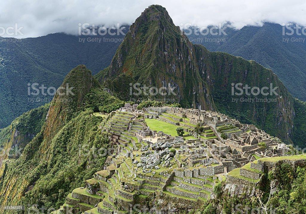 Panoramic view of Machu Picchu 58MPix XXXXL royalty-free stock photo