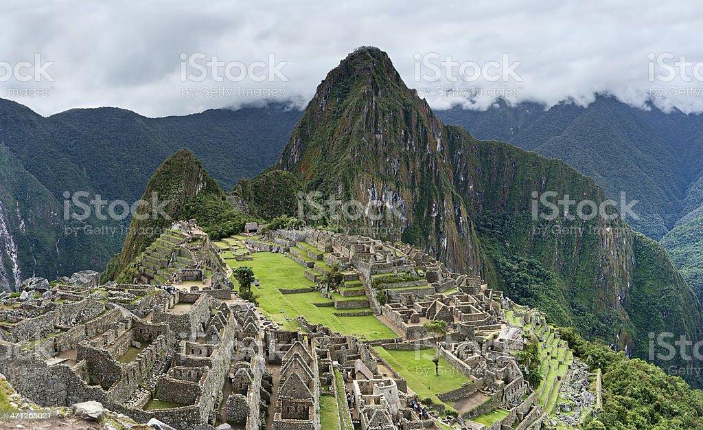 Panoramic view of Machu Picchu 87MPix XXXXL stock photo