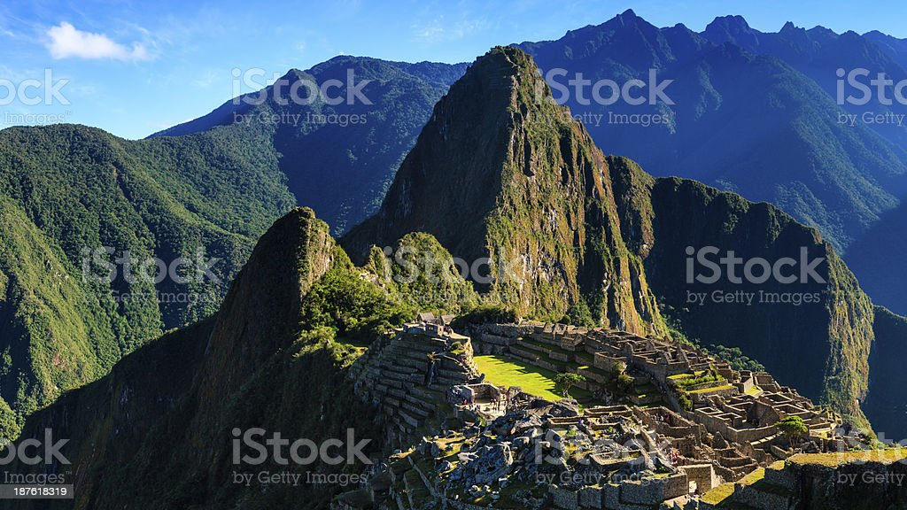 Panoramic view of Machu Picchu royalty-free stock photo