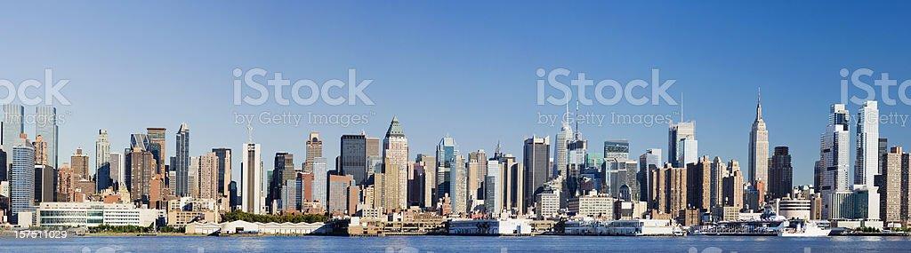 Panoramic View of Manhattan New York City Skyline USA royalty-free stock photo