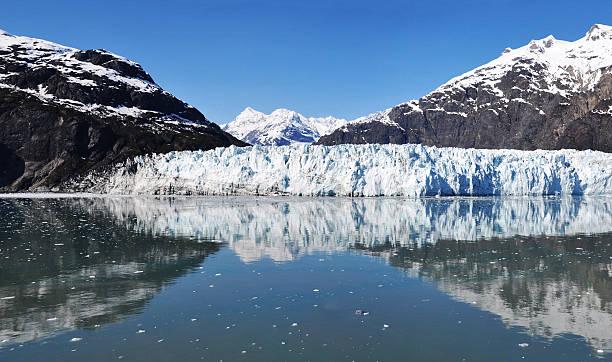 Panoramablick auf Margerie-Gletscher in Gletscher Bucht, Alaska. – Foto