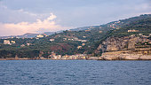 Panoramic view of Marina di Puolo at sunset