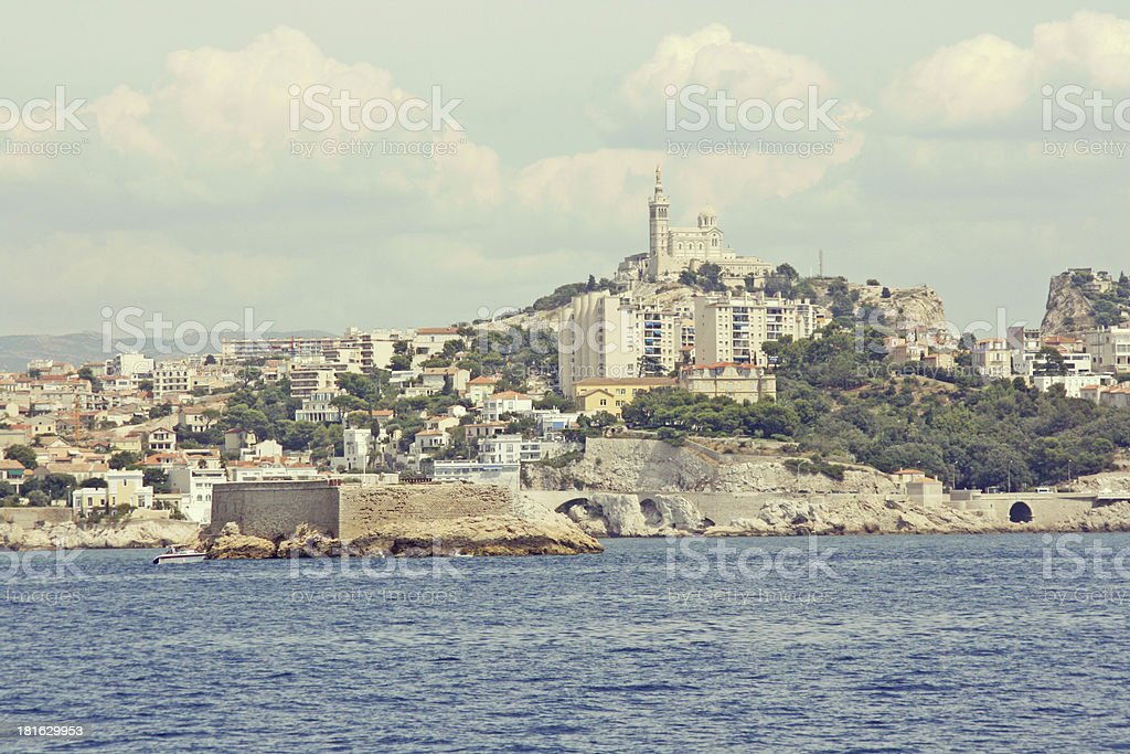 Panoramic view of Marseille, France. royalty-free stock photo