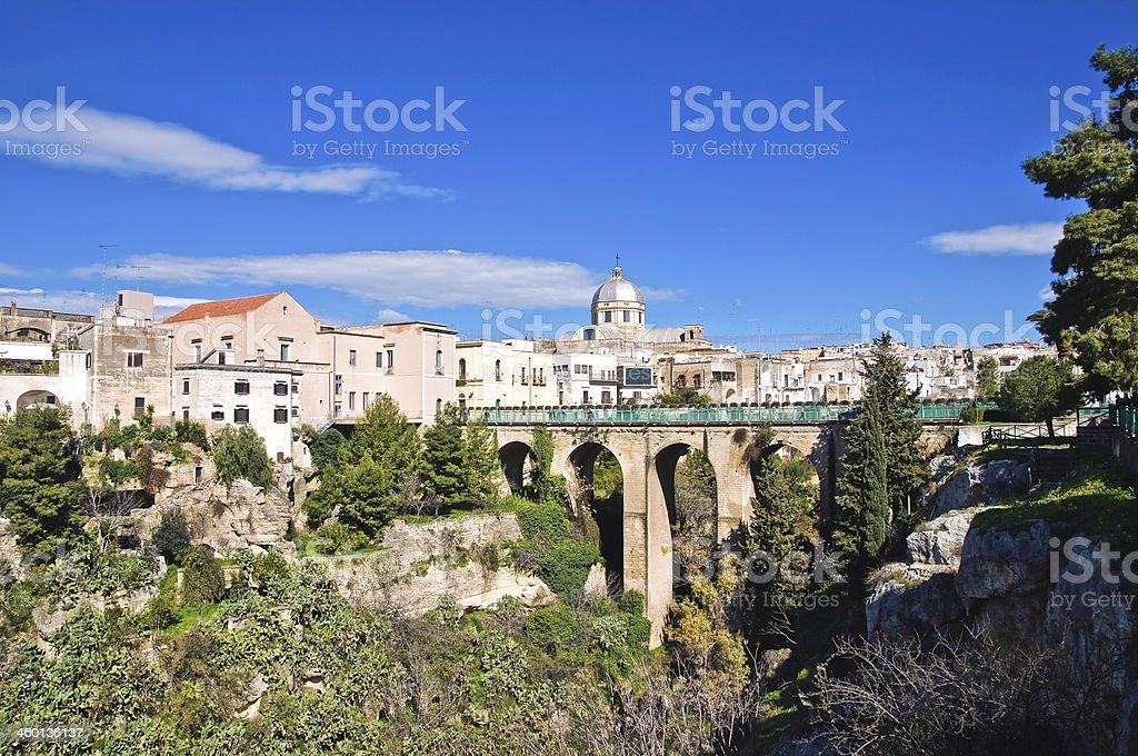 Panoramic view of Massafra. Puglia. Italy. stock photo