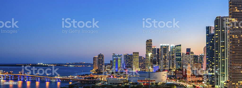 Panoramic view of Miami stock photo