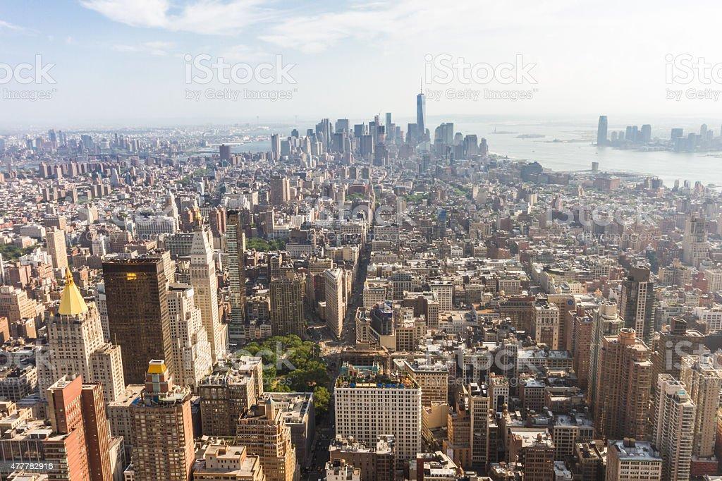 Panoramic view of Midtown and Lower Manhattan, New York stock photo