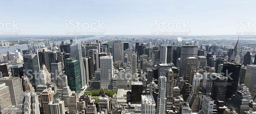 Panoramic view of Midtown Manhattan stock photo