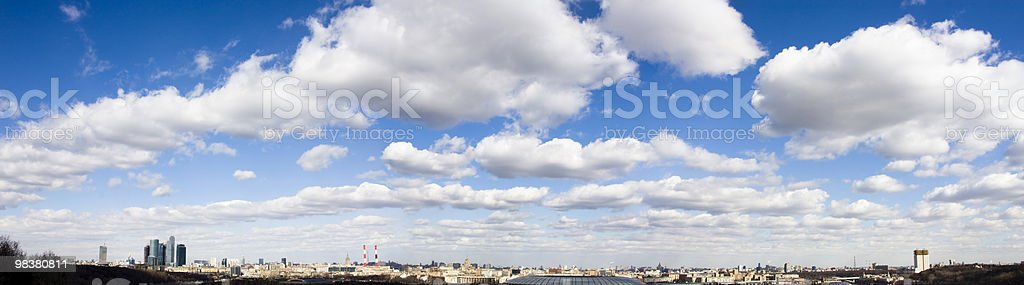 Panoramic view of Moscow from Sparrow Hills. royalty-free stock photo
