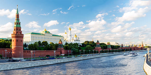 Panoramic View of Moscow Kremlin. Russia 스톡 사진