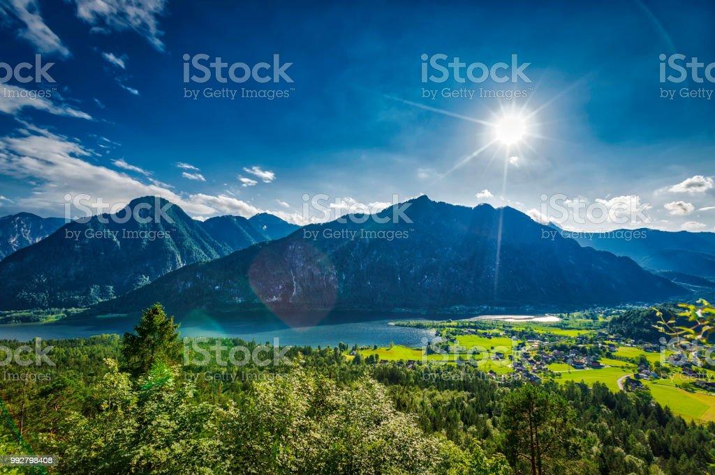 panoramic view of mountain lake (HDRi) – zdjęcie