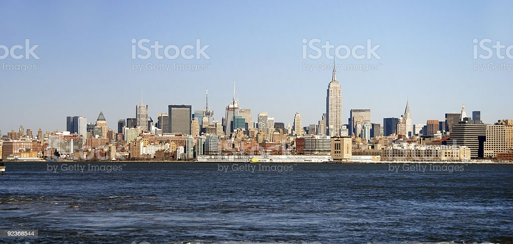 Panoramic view of New York City royalty-free stock photo