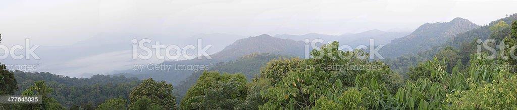 Panoramic view of Panoenthung Scenic Point, Phetchaburi ,Thailand stock photo