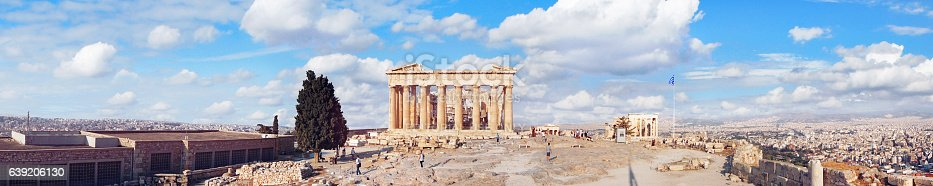 istock Panoramic view of Parthenon on the Acropolis in Athens, Greece 639206130