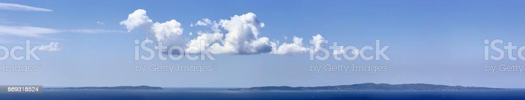 Vista panorâmica das Ilhas Paxos e Antipaxos, Ilhas Ionians, Grécia - foto de acervo