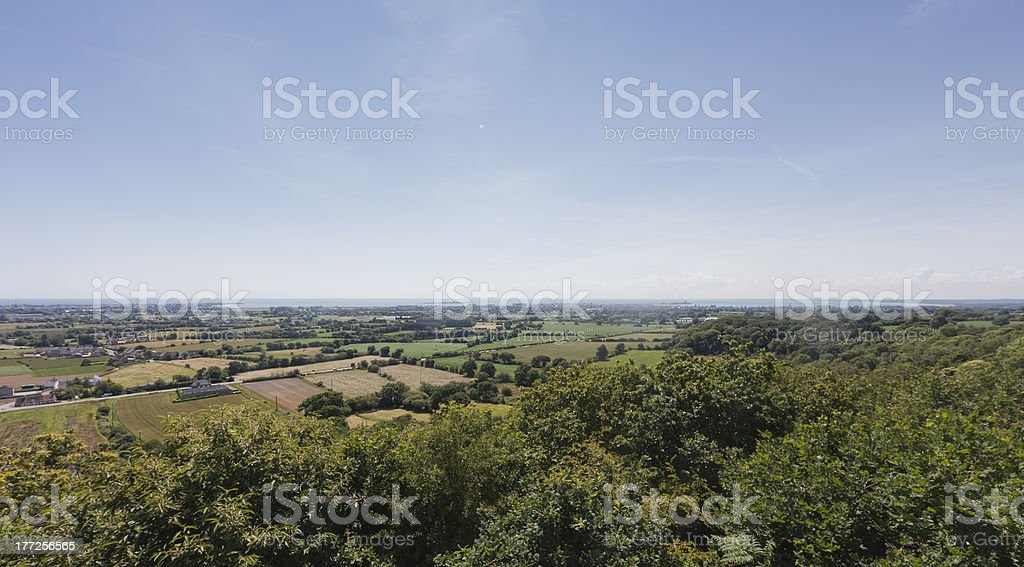 Panoramic View of Peninsula Cotentin in Basse Normandy, France stock photo