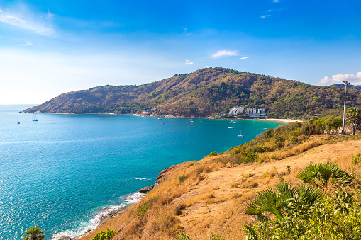 Panoramic view of  Phuket in Thailand in a summer day