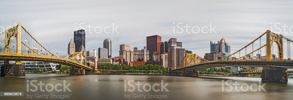 Panoramic View of Pittsburgh stock photo