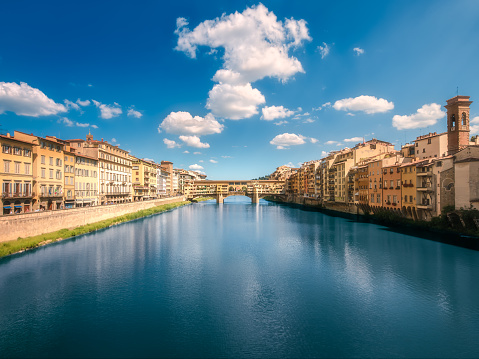 Panoramic view of Ponte Vecchio Bridge, Florence