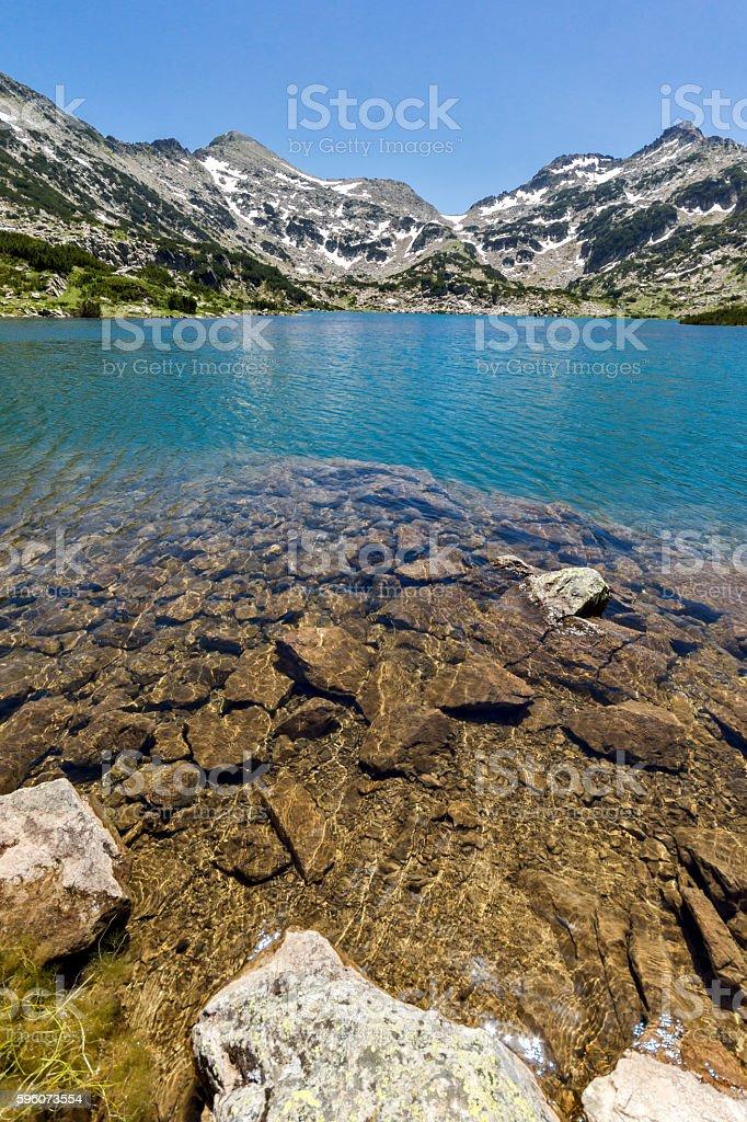 Panoramic view of Popovo lake, Pirin Mountain royalty-free stock photo