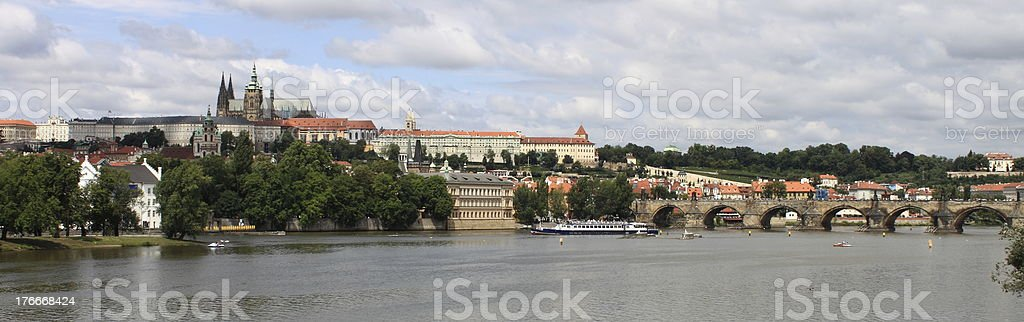 Panoramic view of Prague royalty-free stock photo